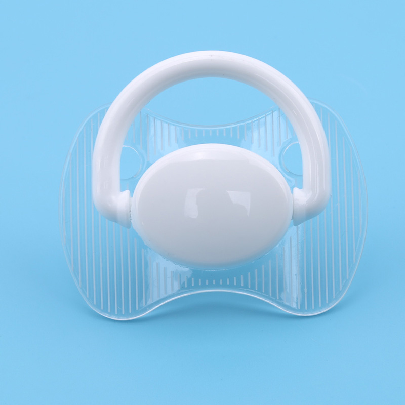 2019 High Quality Baby Silicone Pacifier Transparent Flat Thumb Pattern Baby Nipples Dummy Nipple Teether Toddler Toys