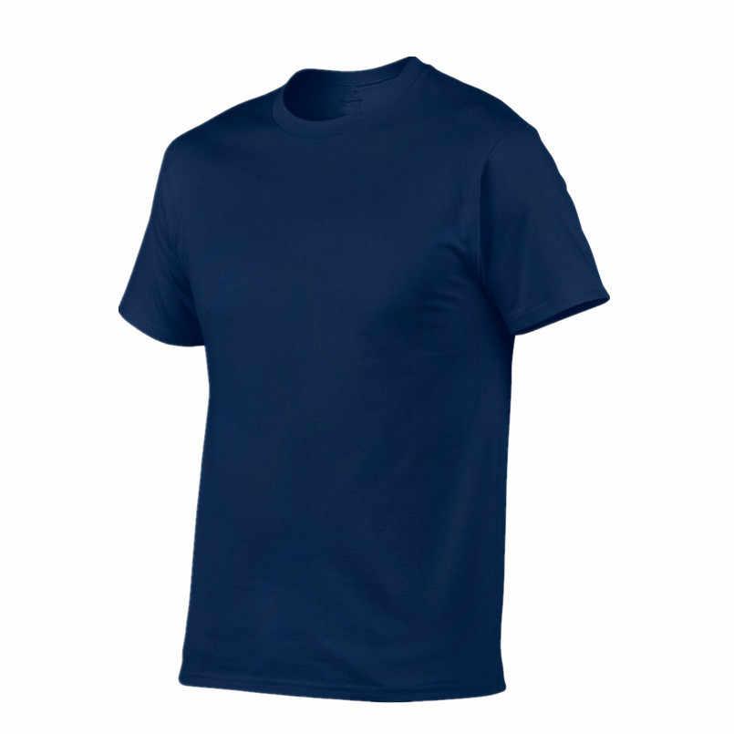 2019 di Estate Nuovi uomini di Alta qualità T shirt casual manica corta o-collo 100% cotone T-shirt da uomo di marca bianco nero tee camicia XS-XXL