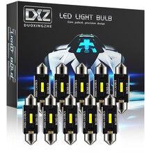 Dxz 10 pces festão 31mm 36mm 39mm 41mm c5w c10w lâmpadas led canbus mapa interior do carro luz dome luzes de leitura 12v/24v auto lâmpada