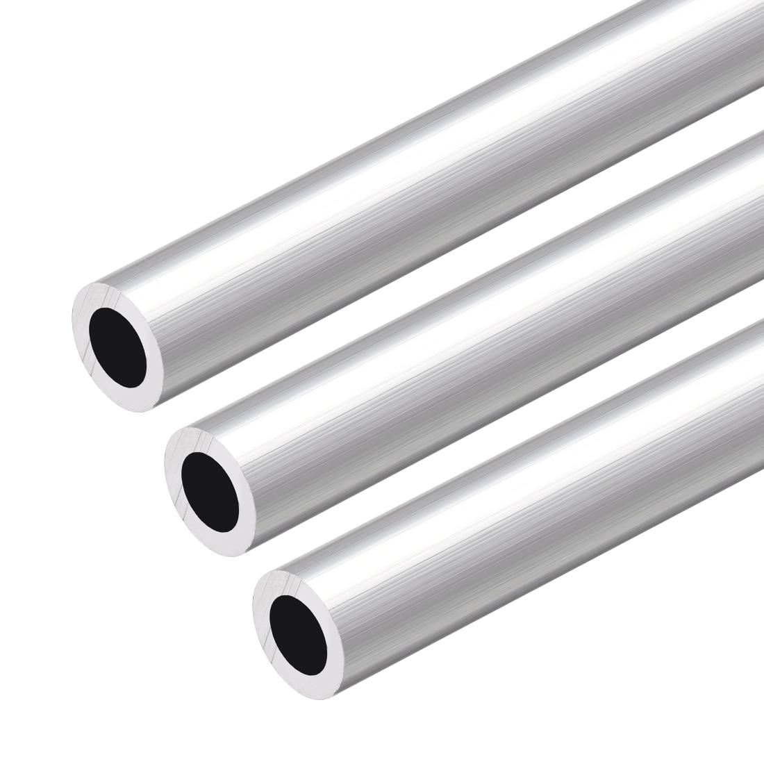 Uxcell 6063 Aluminum Round Tube 300mm Length 13mm OD 8mm Inner Dia Seamless Aluminum Straight Tubing 3 Pcs