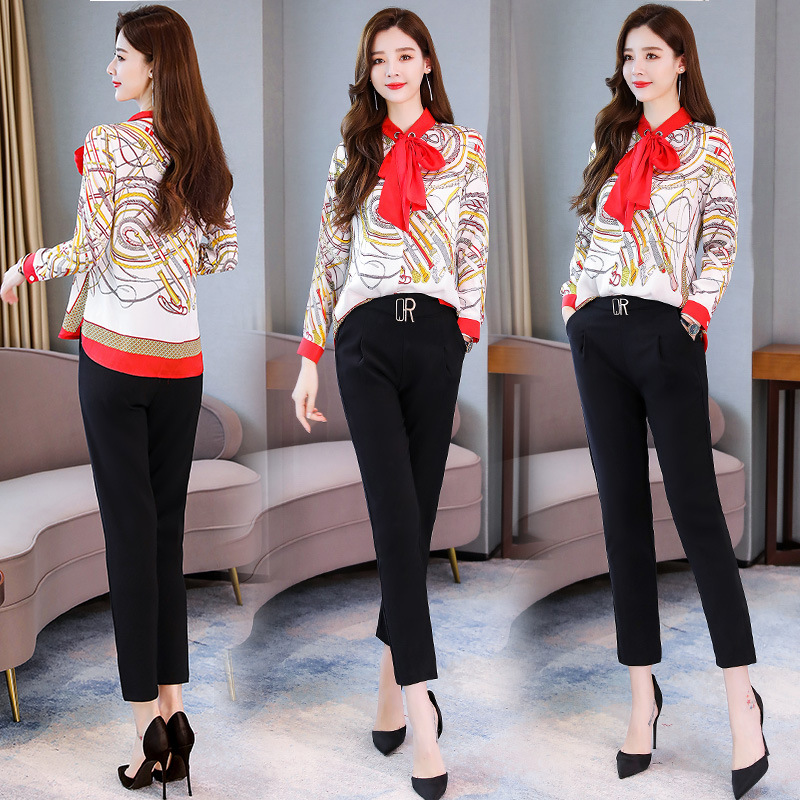 Fashion Comfortable Cool Set/Suit Skirt 2019 Autumn Elegant Elegant Long Sleeve