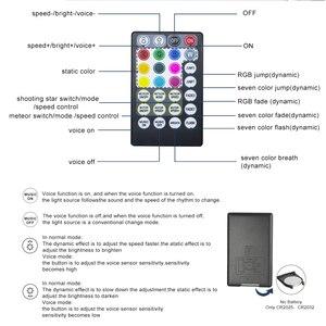 Image 4 - 16W RGBW 반짝임 스마트 블루투스 APP 광섬유 스타 천장 키트 혼합 335/430pcs *(0.75 + 1.0 + 1.5mm) 촬영 유성 효과