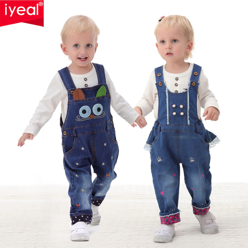IYEAL Baby & Little Boys/Girls Stone Washed Soft Denim Overalls Toddler Jeans Jumpsuit Autumn Kids Clothes Baby Pants Rompers 1