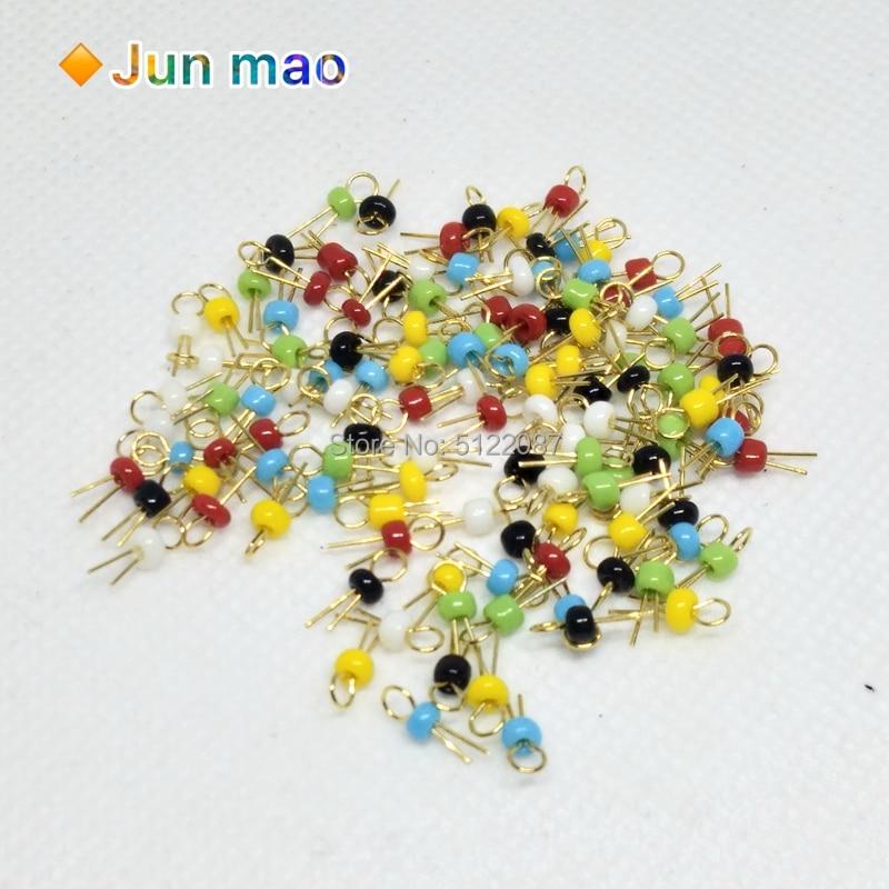 Six Color 120pcs//lot PCB Board Test Point//Bead//Ring//Hoop Ceramic PCB Test Pins Ceramic Test Ring Gold Plating White Black,6 Colors Each 20pcs