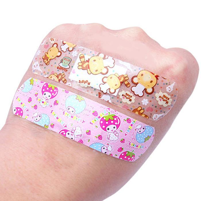 Aid Bandage Wound-Patch Cartoon-Band Waterproof Breathable 100PCS All-Skin-Types