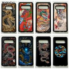 Золотой Китайский дракон силиконовый чехол для мобильного телефона samsung s6edge plus s7 edge s8 s9 s10 плюс lite e note8 note9 чехол