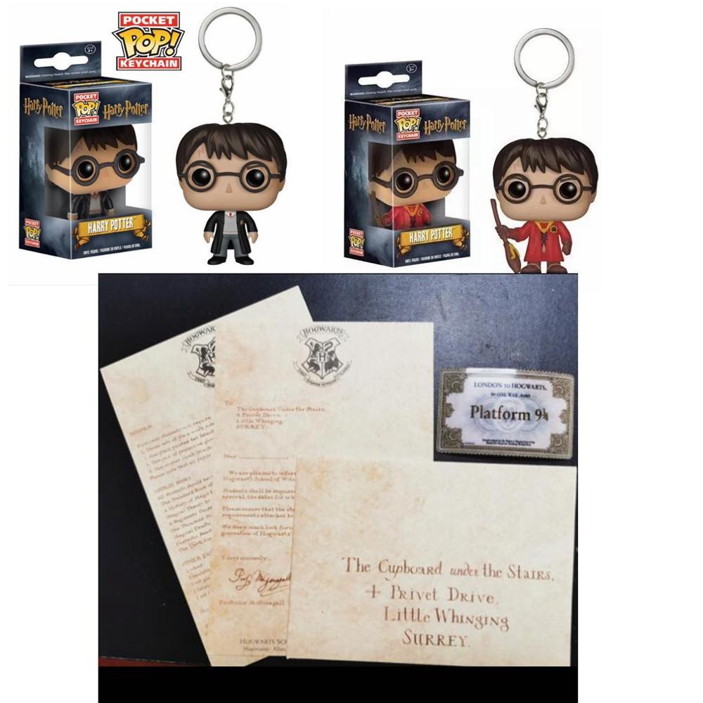 Harri Potter Hogwart Acceptance Letter With Hogwart Express Train Ticket & Deathly Hallows Necklace