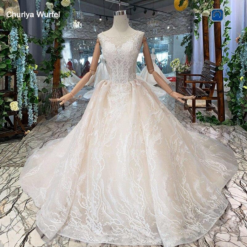 HTL199 Beach Wedding Dress Simple Boat Neck Sleeveless Appliques Boho Bridal Dress Wedding Gown With Train Robe Mariee 2019