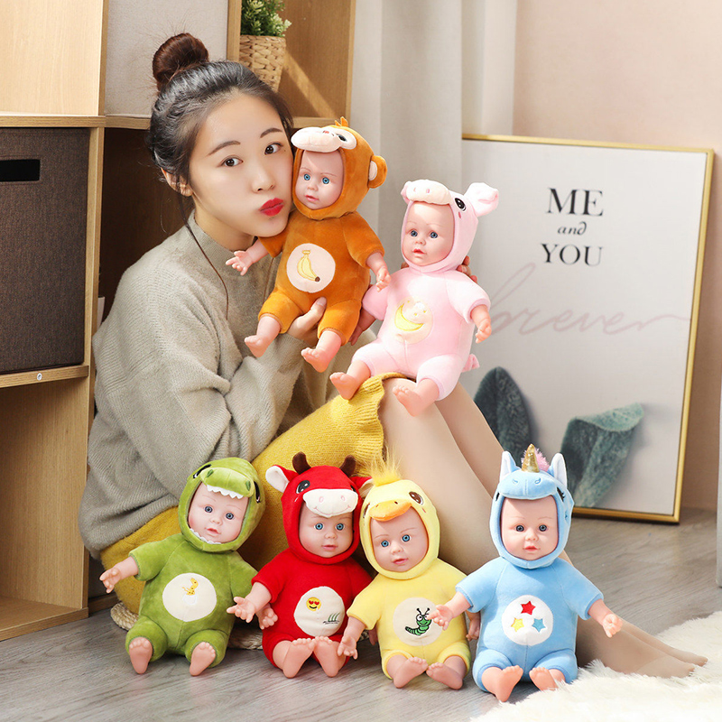 Baby Toys Soft Plush For Girls Cute Simulation Pillow Stuffed Animal Infant Companion Doll Valentines Day Gifts For Kids Just6F