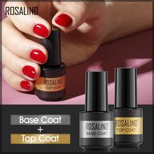 ROSALIND Base Top Gel Nail Polish Semi Permanent Gel Set Nail Art Design Basic Gel Soak Off Lacquer For Manicure 2PCS 7ml Gel