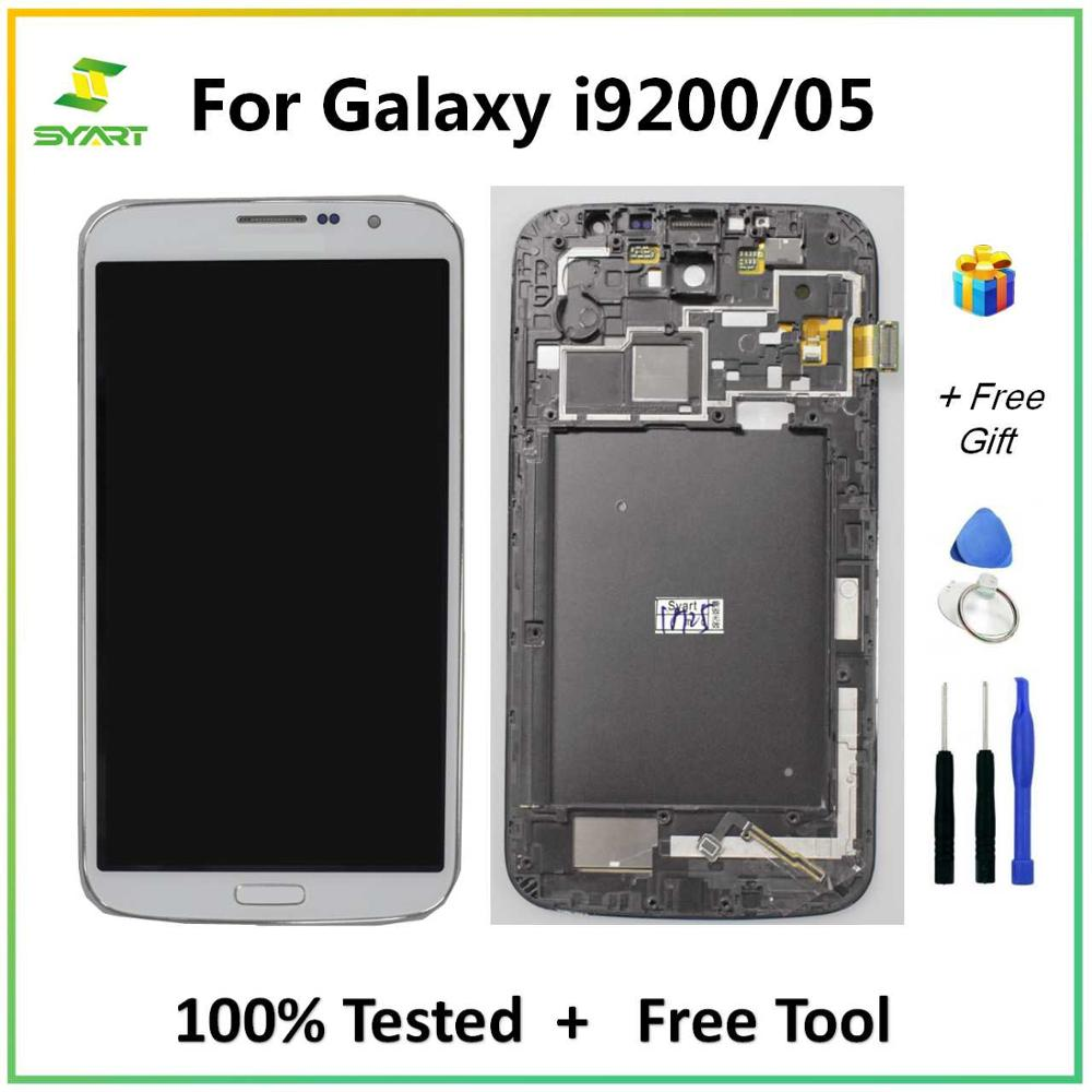 For <font><b>Samsung</b></font> Galaxy Mega <font><b>i9200</b></font> LCD Display Touch Screen Digitizer Assembly Replacement Part For Mega 6.3