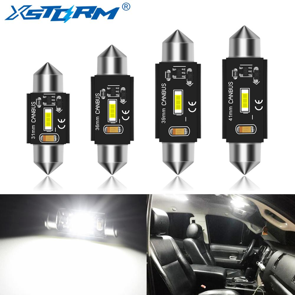 C5W Led Bulb Canbus C10W Led Festoon 31mm 36mm 39mm 41mm Car Interior Light Dome Reading License Plate Lamp Auto 6000K White 12V
