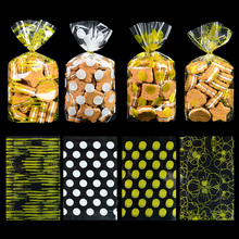 50pcs Gift Packaging Pouches Bags Biscuit Snack Cookies Popcorn Candy Bag for Wedding