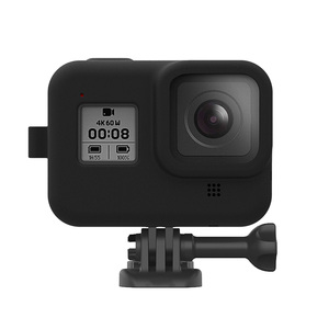 Image 2 - Protective Case Skin For GoPro Hero 8 Black Soft Silicone Case Cover Shell for Gopro 8 Tempered Glass Film Camera Accessories
