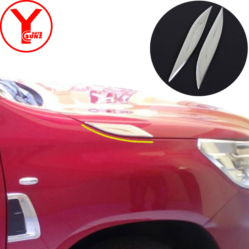 Side Door Handles Cover Trim Decoration ABS For Toyota Fortuner AN160 2016 2017