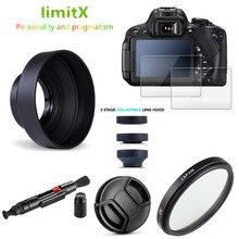 Filtro UV + parasol + tapa + bolígrafo de limpieza + Protector de pantalla LCD de cristal templado 9H para cámara Panasonic Lumix FZ80 FZ82 FZ85