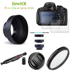 Image 1 - UV フィルター + レンズフード + キャップ + クリーニングペン + 9 9h 強化ガラス液晶画面パナソニック lumix FZ80 FZ82 FZ85 カメラ