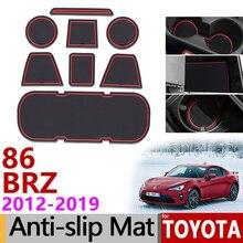 Противоскользящий коврик для телефона, слот для ворот, коврики для Totota 86 Subaru BRZ GT86 FT86 Scion FR-S 2012~, аксессуары, наклейки