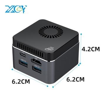 XCY Mini PC Intel Celeron N4100 Quad-Core 8GB LPDDR4 128GB SSD 2.4G/5.0G WiFi Bluetooth 4.2 HDMI2.0 60Hz USB-C 4K Windows 10