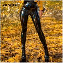 ATHVOTAR Women PU Leather Leggings Black Leather Pencil Pants Women High Waist Sexy Skinny Thin Leather Trousers Leggings
