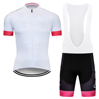 CyclingEasy 41334 2019 Italy White Cycling Jersey Maillot Ciclismo Short Sleeve and Cycling bib Shorts Cycling Kits