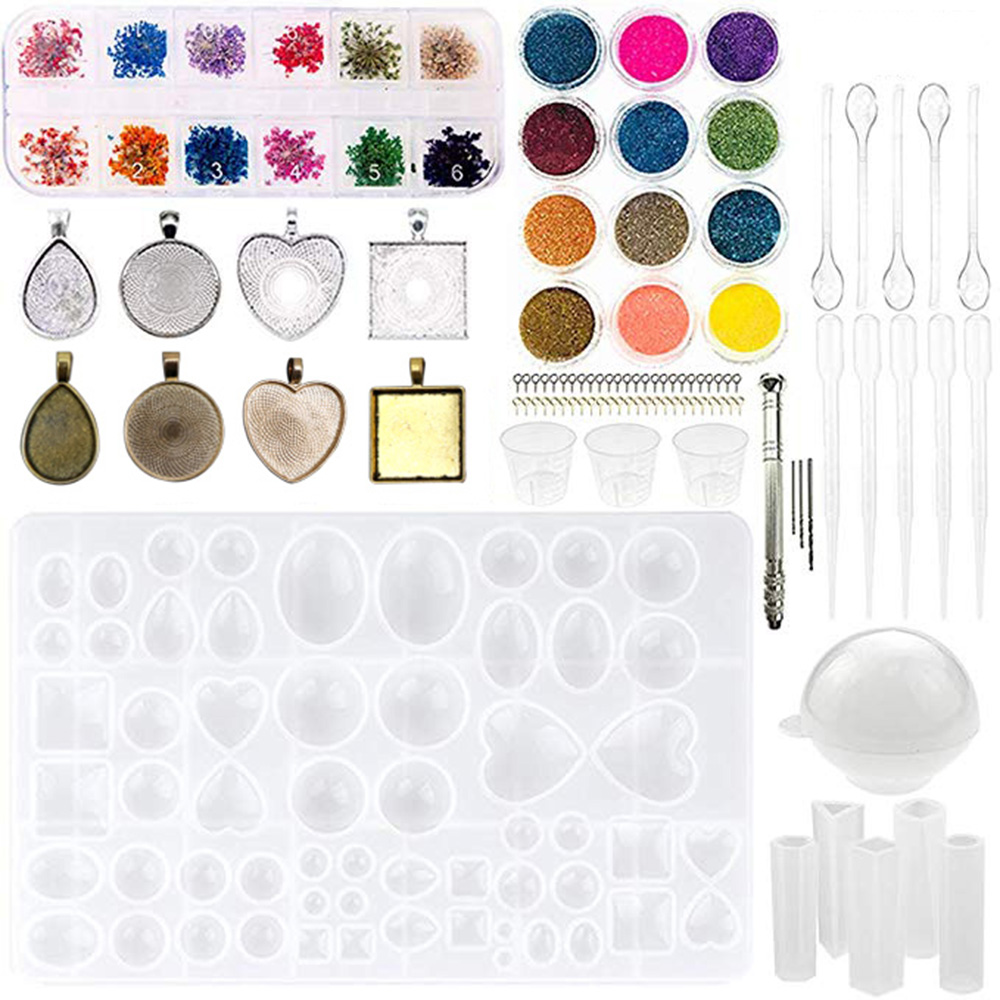Six Types Silicone Mold For Resin Silicone Uv Resin DIY Clay Epoxy Resin Casting Resin Mold Sets