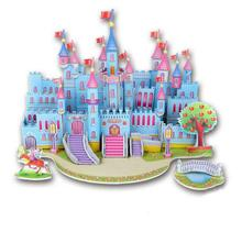 цены на 3D Wooden Puzzle Blue Castle Buliding Puzzle DIY Educational Toy for Kids Children  в интернет-магазинах