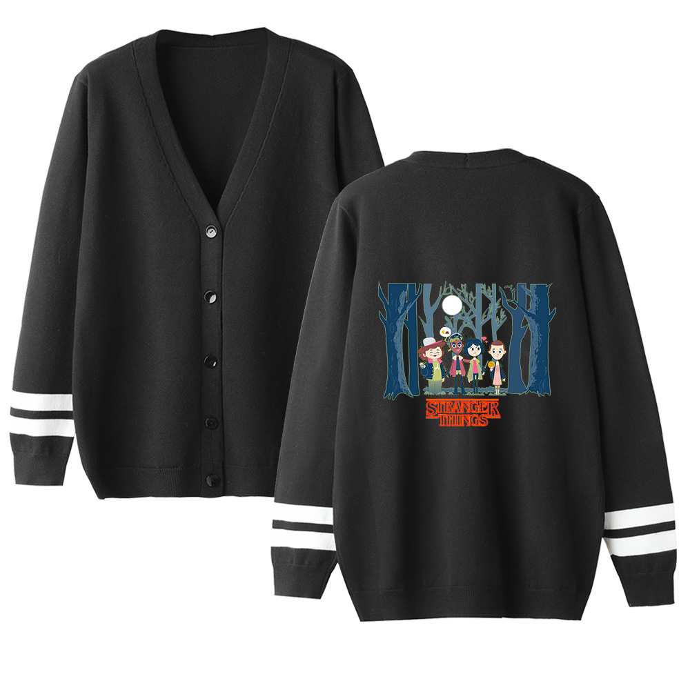 Stranger Things V-neck Cardigan Sweater Men/women Autumn Winter Hot Sale Long Sleeve Warm Outwear Knitted Sweater Casual Tops