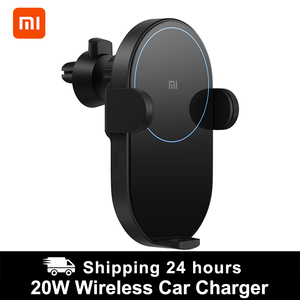 Image 1 - Xiaomi Wireless Car Charger 20W Max Electric Auto Pinch Qi Quick Charging Mi Wireless Car Charger for Mi 9 iphone X XS Original