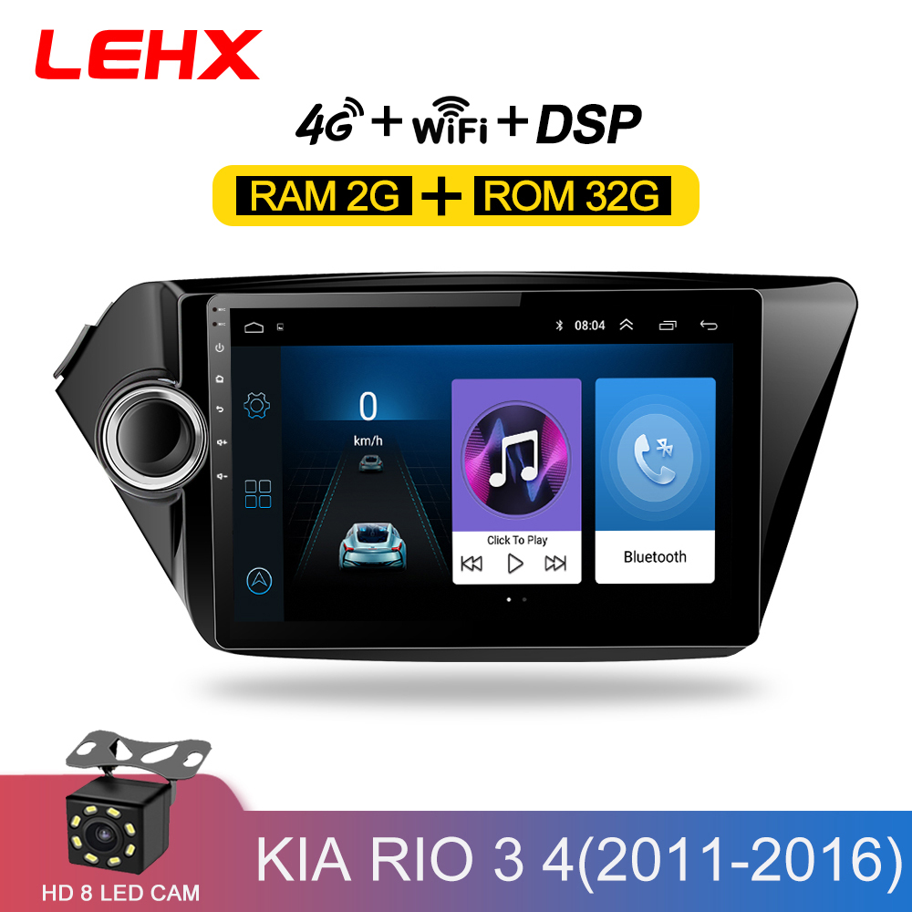 2din Android 8.1 autoradio lecteur multimédia gps navigatio pour Kia RIO 3 4 Rio 2010 2011 2012 2013 2014 2015 2016 2017 2018
