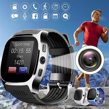T8 Bluetooth Smart Watch With Camera Support SIM TF Card Pedometer Men Women Call Sport Smartwatch For Android Phone PK Q18 DZ09 bangwei smartwatch men casual fashion rubber strap smart watch women men sport pedometer led stopwatch support sim make call box