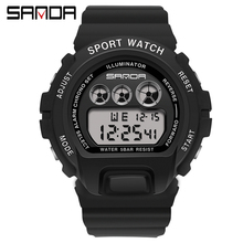Watches Alarm-Clock Couple Electronic-Watch Digital Sports-G Waterproof SANDA Men's Reloj