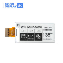 """GoodDisplay 2.13"""" 250x122 E-Paper SPI Electronic Paper Display"""