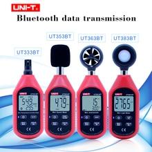 UNI T Mini Lcd Digitale Thermometer Hygrometer Bluetooth Digitale Temperatuur Vochtigheid Anemometer Tester Magazijn UT333BT Serie