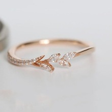 FXM new fashion branch shape creative simple ring delicate and fresh ladies engagement jewelry