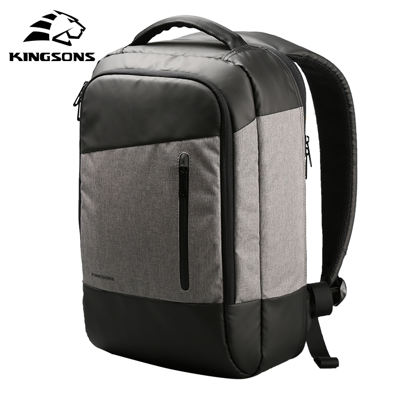 Kingsons Men Casual Daypacks USB Charging Laptop Backpack Phone Sucking Backpacks Teenager Travel Bags