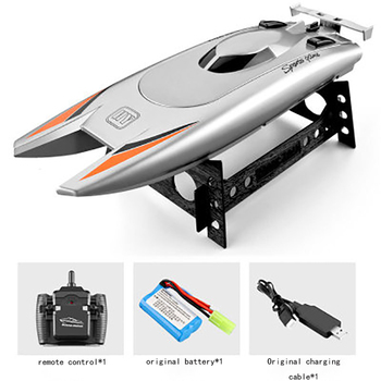 2021 NEW RC Boat 2.4G Remote Control Double Motor Waterproof USB Charging Double Helix Design Toys Gift For Children 3
