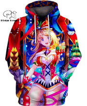 PLstar Cosmos anime Christmas girl Virtual Girlfriend 3d hoodies/shirt/Sweatshirt Winter autumn funny Harajuku streetwear