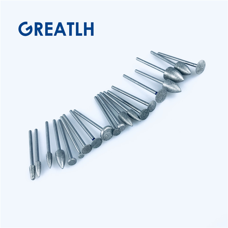 Dental Diamond Drills Tooth dental technician drill dental Brusg teeth polisher Dental Lab materials 20pcs/set