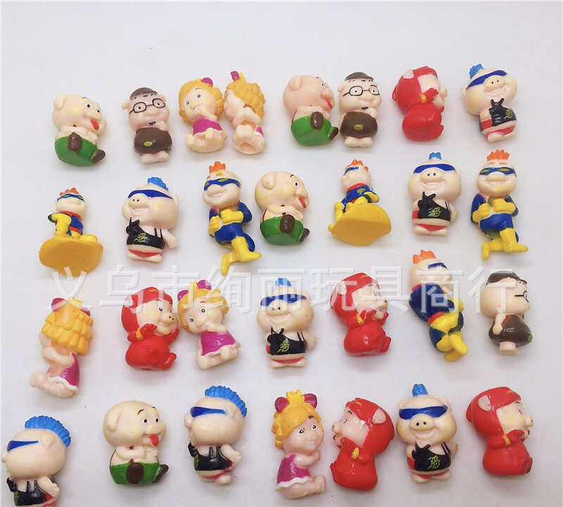 50pcs/lot Lovely Cute Pig Girls Toys Boys Toys Birthday Gift Home Decoration