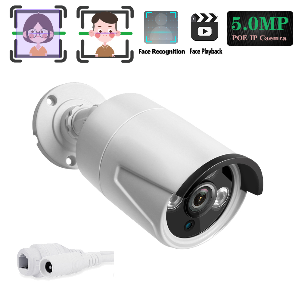 Face Network 5 Megapixels RJ45 POE 48V IP Street camera Metal-case Waterproof Room/Outdoor in Surveillance Independent IP Camera image