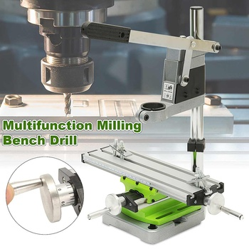 Multifunction Milling Machine Miniature High Precision Bench drill Vise Fixture worktable X Y-axis adjustment Coordinate Table