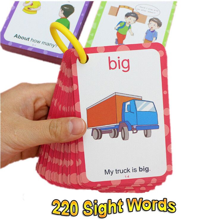 221PCS English Sight Words Card Phonics Words Flashcards ...