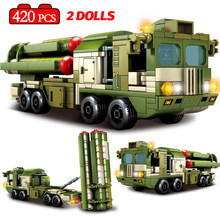 City Police Missile Car Truck Model Building Blocks Military WW2 Battle Vehicle Soldier Figures Bricks gifts Toys For Children(China)