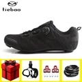 Tiebao обувь для езды на велосипеде  набор для мужчин  кроссовки  профессиональный гоночный велосипед  самоблокирующаяся обувь  уличная спорти...