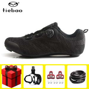 Tiebao road cycling shoes add pedal set men sneakers professional racing bicycle self-locking shoes outdoor Athletic Bike shoes(China)