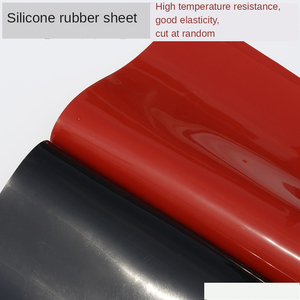 Image 5 - 1.5mm/2mm/3mm Red/Black Silicone Rubber Sheet 500X500mm Black Silicone Sheet, Rubber Matt, Silicone Sheeting for Heat Resistance