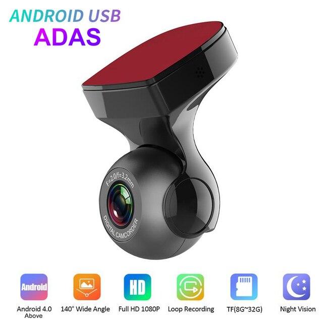 Nuevo Eyeball Dash Cam Cámara DVR de coche con ADAS función 140 grado HD 1080P Auto cámara USB grabadora de vídeo para Android Car Radio