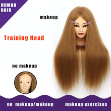 Allaosify Head Dolls for Hairdressers Synthetic Mannequin Head Hairstyles Female Mannequin Hairdressing Styling Training Head(China)