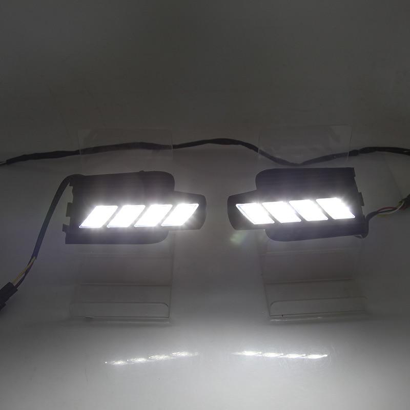 Voiture clignotant led drl feux de jour pour 03-09 ans Toyota Prado brouillard lampe trou couvercle fonction Signal lumineux 2 pièces